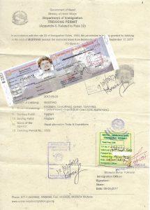 Upper Mustang Permits
