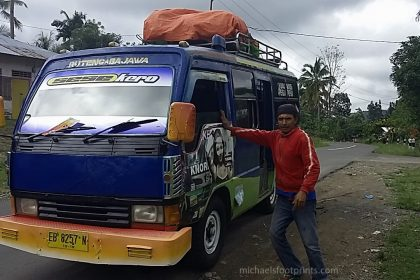 michaelsfootprints Michael's Footprints Flores backpacking bus